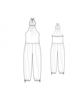 Custom-Fit Sewing Patterns - Halter Neck Jumpsuit