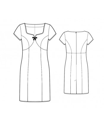 Custom-Fit Sewing Patterns - Vintage Inspired Sweetheart Neck Dress