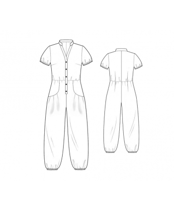 Custom-Fit Sewing Patterns -  Cinch Leg Jumpsuit