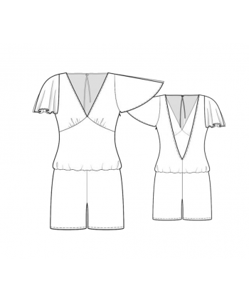 Custom-Fit Sewing Patterns - Flowy Sleeves Romper