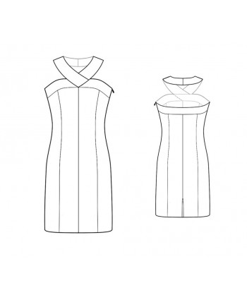 Custom-Fit Sewing Patterns - Wide Necknand Halter Dress With Princess Seams