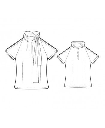 Custom-Fit Sewing Patterns - Tie-Neck Fitted Blouse
