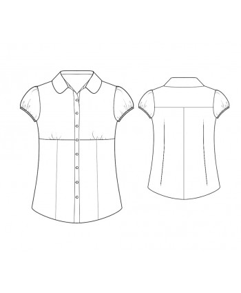 Custom-Fit Sewing Patterns - Short-Sleeved Button-Down Blouse