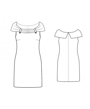 Custom-Fit Sewing Patterns - Draped Off-Shoudler Knit Dress