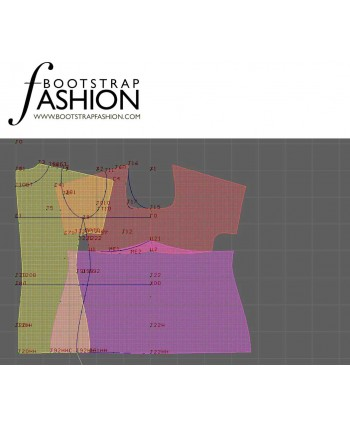 Custom-Fit Sewing Patterns - Sweetheart-Neck Empire Waist Top