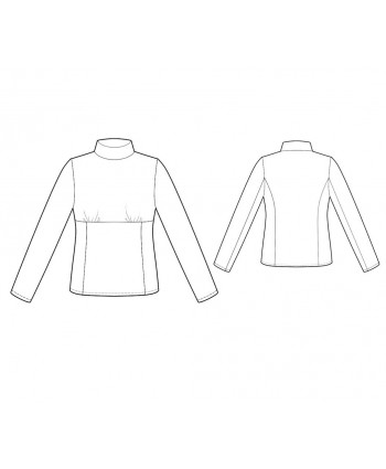 Custom-Fit Sewing Patterns - Princess Seams Knit Turtleneck