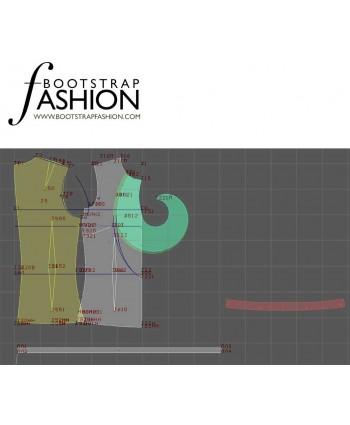 Custom-Fit Sewing Patterns - Sleeveless Ruffle Neck Blouse