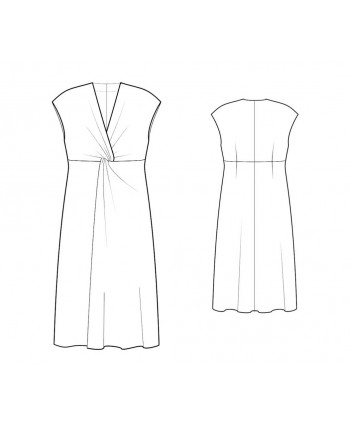 Custom-Fit Sewing Patterns - Plunging Neckline With Twist-Knot Detail At Bust Dress