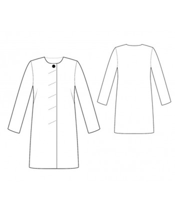 Custom-Fit Sewing Patterns - Collarless Classic Coat