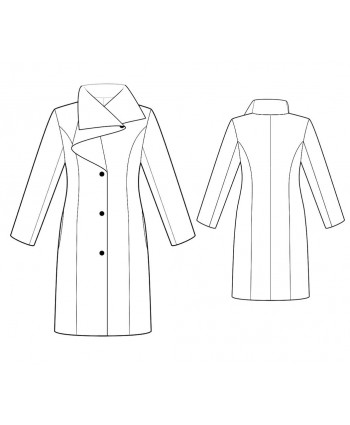 Custom-Fit Sewing Patterns - Tailored Coat With Couture Draped Collar
