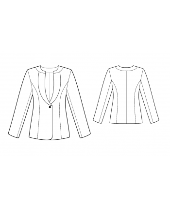 Custom-Fit Sewing Patterns - Round-Neck Fitted Jacket