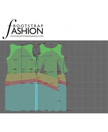Custom-Fit Sewing Patterns - Asymmetrical Seam Sheath