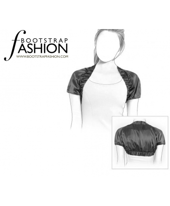 Custom-Fit Sewing Patterns - Short Sleeve Shrug