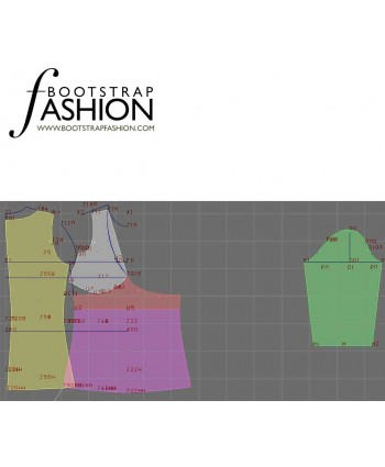 Custom-Fit Sewing Patterns - V-Neck Empire-Waist Top