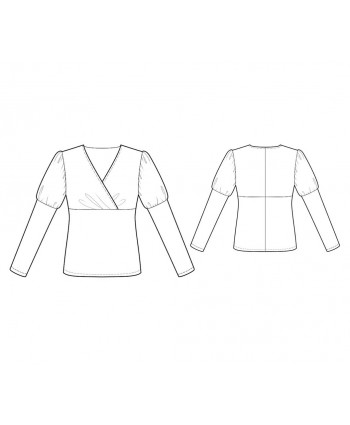Custom-Fit Sewing Patterns - Fitted Wrap-Top Blouse