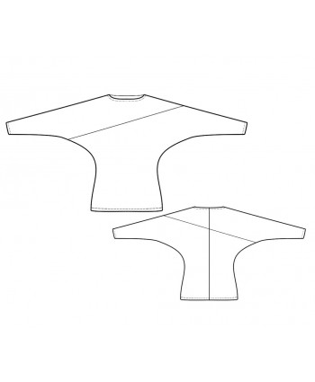 Custom-Fit Sewing Patterns - Dolman-Sleeve Top
