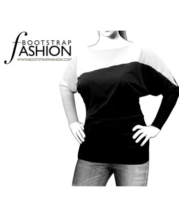 Custom-Fit Sewing Patterns - Dolman-Sleeve Top