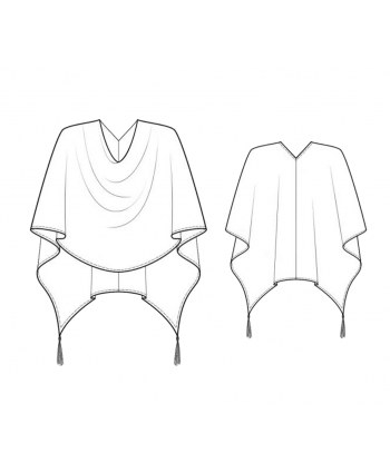 Custom-Fit Sewing Patterns - Tassle Poncho Cape