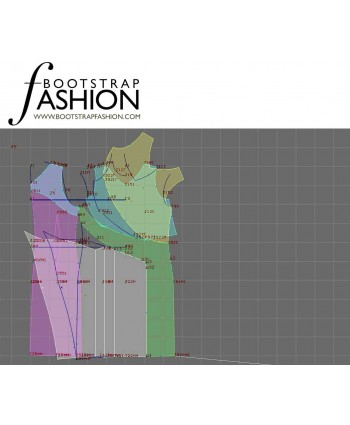 Custom-Fit Sewing Patterns - Asymmetrical Drape V-neck Dress