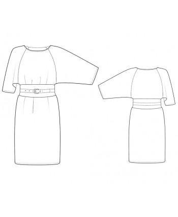 Custom-Fit Sewing Patterns - Kimono-Style Reglan Sleeve Knit Dress