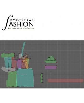 Custom-Fit Sewing Patterns - Shirt Dress With Buckle Belt