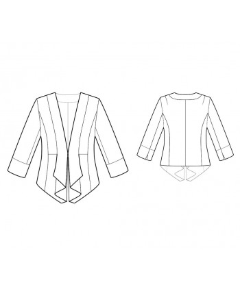 Custom-Fit Sewing Patterns - Fitted Draped Jacket