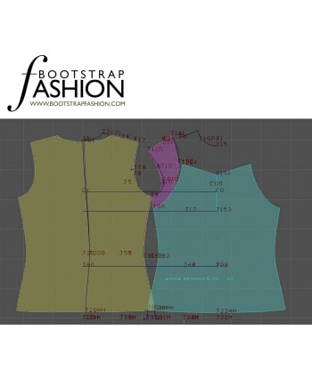 Custom-Fit Sewing Patterns - Sweetheart Knit Tank