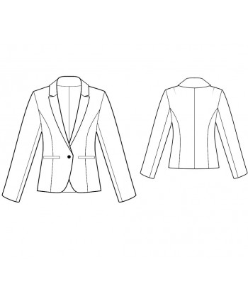 Custom-Fit Sewing Patterns - Tailored, Fully Lined Cropped Sleeves Jacket
