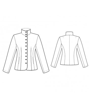 Custom-Fit Sewing Patterns - Fitted Mandarin-Style Jacket
