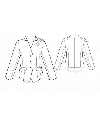 Custom-Fit Sewing Patterns - Fitted Inverted Lapel Jacket