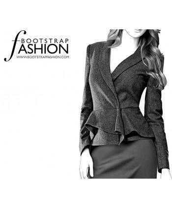 Custom-Fit Sewing Patterns - Long-Sleeved Shawl Collar Jacket
