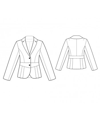 Custom-Fit Sewing Patterns - Long-Sleeved Notched Lapels Jacket