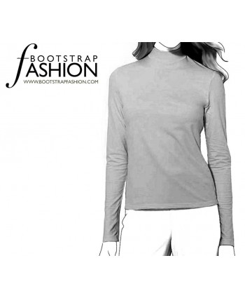 Custom-Fit Sewing Patterns - Turtleneck Knit Top