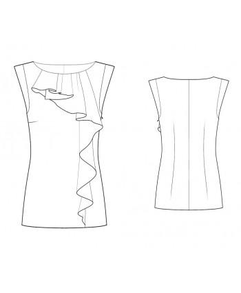Custom-Fit Sewing Patterns - Cascading Ruffle Tank