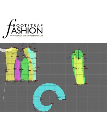 Custom-Fit Sewing Patterns - Long-Sleeved Jacket with Ruffle