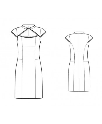 Custom-Fit Sewing Patterns - Mandarin Collar With Wide Keyhole Dress