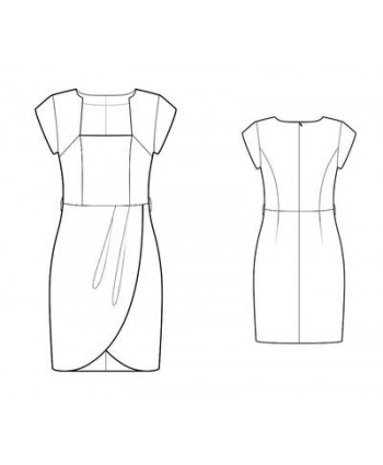 Custom-Fit Sewing Patterns - Tulip Faux-Wrap Draped Dress