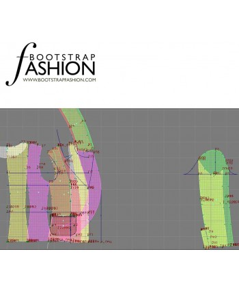Custom-Fit Sewing Patterns - Tailored Ruffle Notched Lapel Jacket