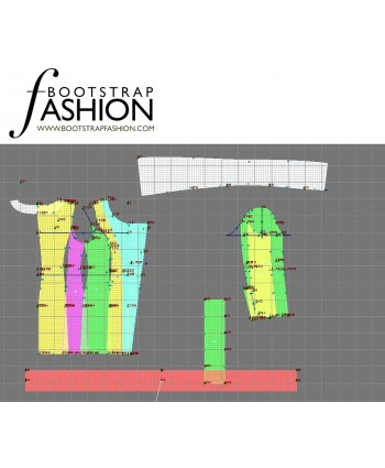 Custom-Fit Sewing Patterns - Asymmetrical Coat With Draped Collar And Tie