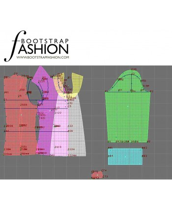 Custom-Fit Sewing Patterns - Long-Sleeved Blouse with Bib
