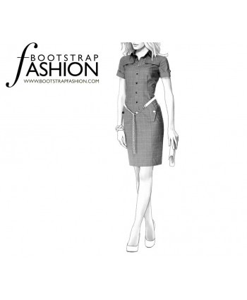Custom-Fit Sewing Patterns - Button Front Shirt Dress