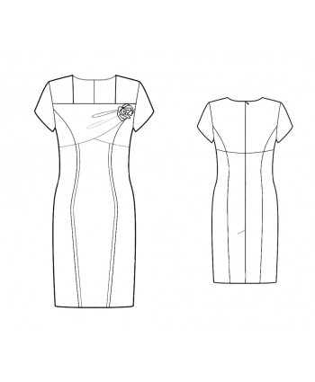 Custom-Fit Sewing Patterns - Square Drape Neck Dress