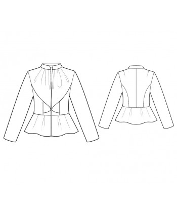 Custom-Fit Sewing Patterns - Peplum Long-Sleeved Jacket