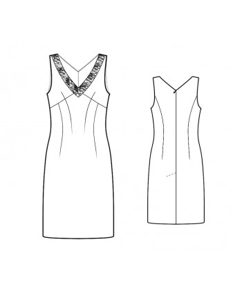 Custom-Fit Sewing Patterns - V-Neck Sleeveless Sheath