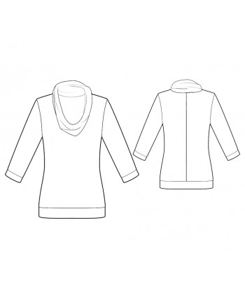 Custom-Fit Sewing Patterns - Cowl Neck Knit Top