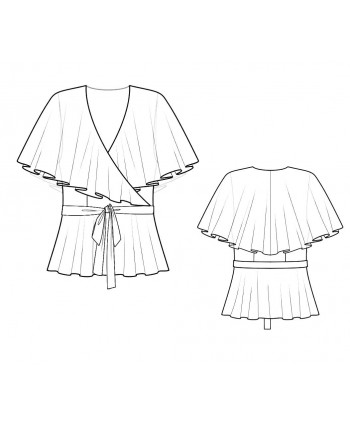 Custom-Fit Sewing Patterns - Shawl-Neck Blouse