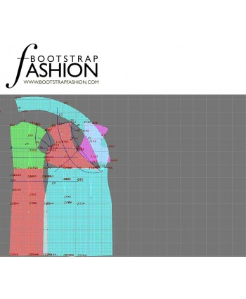 Custom-Fit Sewing Patterns - Cap Sleeves Shawl Collar Dress