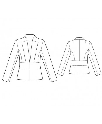 Custom-Fit Sewing Patterns - Tailored V-Neck Jacket