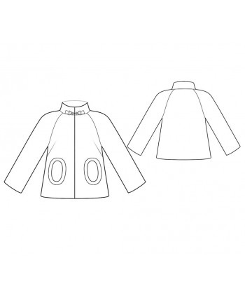 Custom-Fit Sewing Patterns - High-Collar Raglan Sleeve Jacket