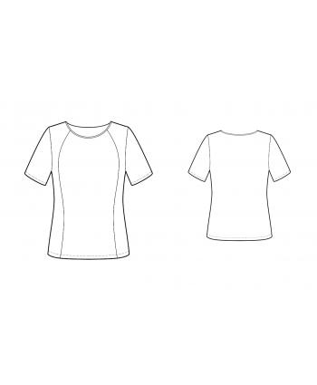 Custom-Fit Sewing Patterns - Curved Princess Seams Knit Top